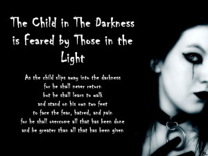 poem composed while listening to some of my darker tunes, such as the ...