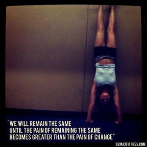 The Pain quote #CrossFit #KippingItReal #hspu #handstandpushups