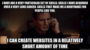Particular Set Of Skills Quote