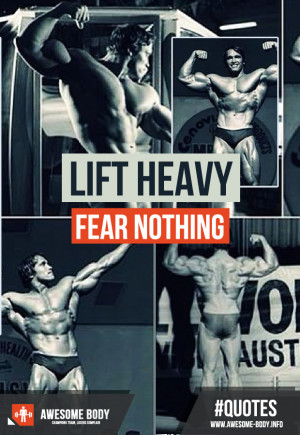 Lift heavy fear nothing | Motivation Quote