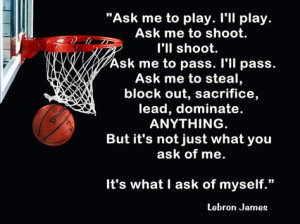 Lebron James Cleveland Cavaliers Quote Poster by ArleyArtEmporium, $11 ...