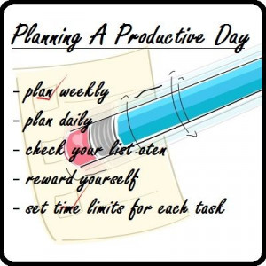good tips for planing a productive day