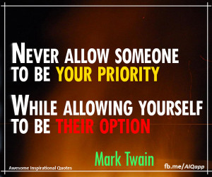 Mark Twain Priority Quotes