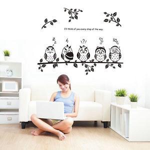 ... -Birds-Branch-Bedroom-Living-Room-Wall-Quote-Stickers-Wall-Decals-Art