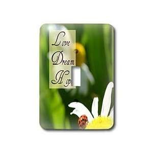 Flowers Love Dream Hope Ladybug on a Daisy Inspirational Quotes