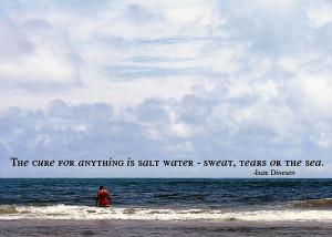Big Blue Ocean Quote Photograph