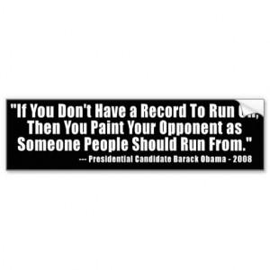 Anti Obama Election Quote Bumper Stickers
