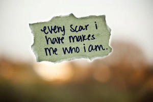 life, makes, paper, picture, quote, quotes, scar, story, text, true