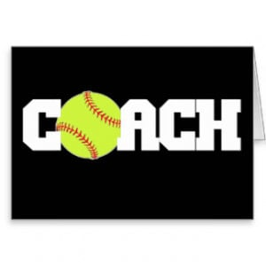 Softball Coach Card
