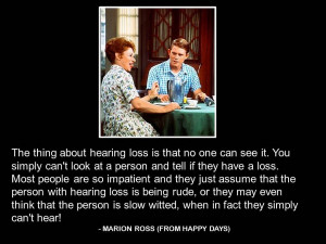 """Hearing Loss quotes - Marion Ross"""" – TV celebrity shares her ..."""