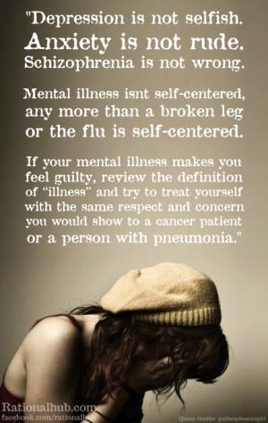 Mental illness isn't self centered.. by rationalhub