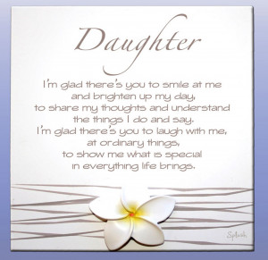 Daughter Sentimental Splosh Poem - Gorgeous Gifts