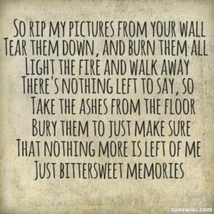 Bittersweet Memories Bullet For My Valentine Lyrics Picture