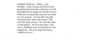 michael jackson poem ? by ryuzakipwnskira