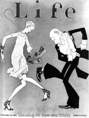 Life Magazine cover page celebrating the 20s