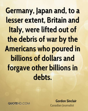 Germany, Japan and, to a lesser extent, Britain and Italy, were lifted ...