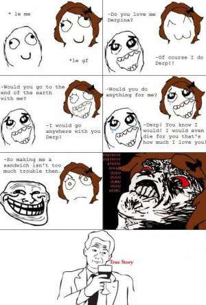 Troll Face Meme – Straitjacket Troll Face Meme – Easy Sandwich