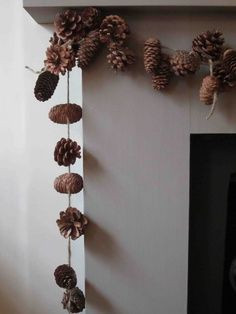 decor: Diy Natural Decor, Luxury Problems, Cones Garlands, Pine Cones ...