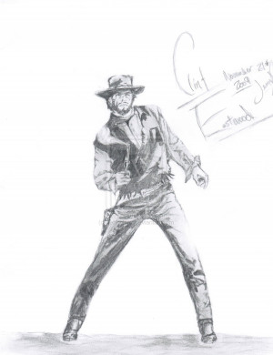Clint Eastwood Cowboy Drawing