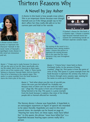 13 Reasons Why Quotes From Book Thirteen reasons why - viewing
