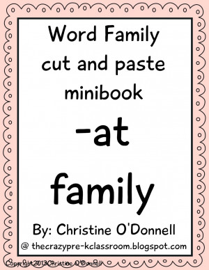 Teaching with word families...this may be a no brainer but here we go!
