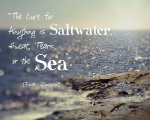 Ocean Beach Quote Isak Dinesen Waves Aqua by ShadetreePhotography, $30 ...