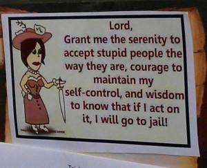 Stupid people prayer
