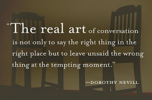 Quote of the Day: The Art of Conversation