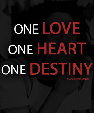 Bob Marley Quote One Love