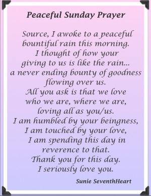 Peaceful Sunday Morning Prayer,