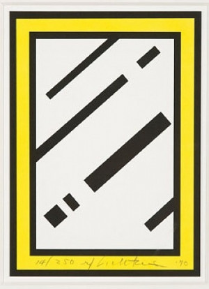 ... , Lichtenstein Mirrors, Harvey Gantt, 1990, Roy Lichtenstein