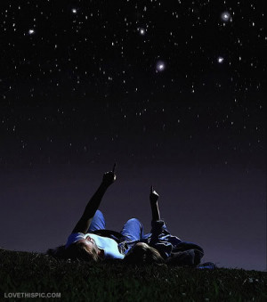 Stargazing Couple Star gazing couple