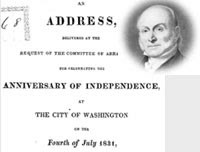 John Quincy Adams' July 4 Speech