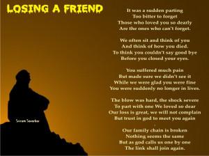 Thread: Losing A Friend