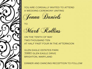 sample wedding invitations template yqRR7X5x