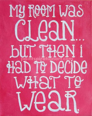 Quote Canvas Painting 8x10 Pink Wall Art - College Dorm Decor Art for ...