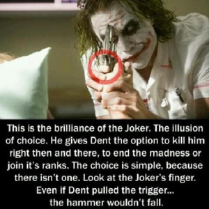 Could Harvey Dent (Two-Face) have pulled the trigger on Joker had the ...