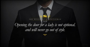 Opening The Door For A Lady