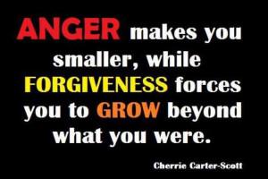Anger vs. forgiveness