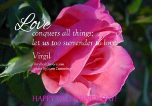 Happy valentines day love quotes love conquers all things quotes