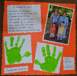 Grandchild's Hand Poem for Grandma