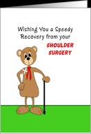 Shoulder Surgery Get Well Greeting Card-Bear Band Aid on Shoulder card ...