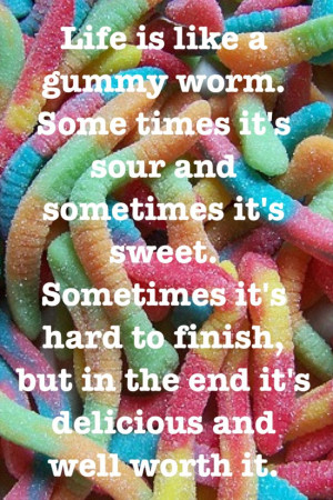Gummy Worms are my favorite!