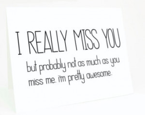 Miss You So Much Mom Quotes Funny i miss you card - i