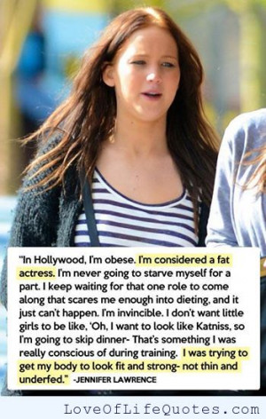 Jennifer Lawrence quote on weight