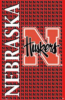 ... of Nebraska HUSKERS N Logo Poster - Cornhuskers - NCAA, Costacos 2005