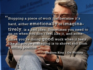 Stephen King quote Thursday Thirteen 7/5/12 13 great writing quotes