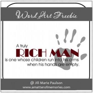 WORD ART: Rich Man Quote Word Art