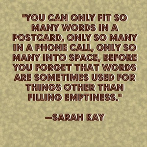 quotes sarah kay poetry words advice