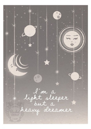 Star And Moon Quotes Moon and stars digital print